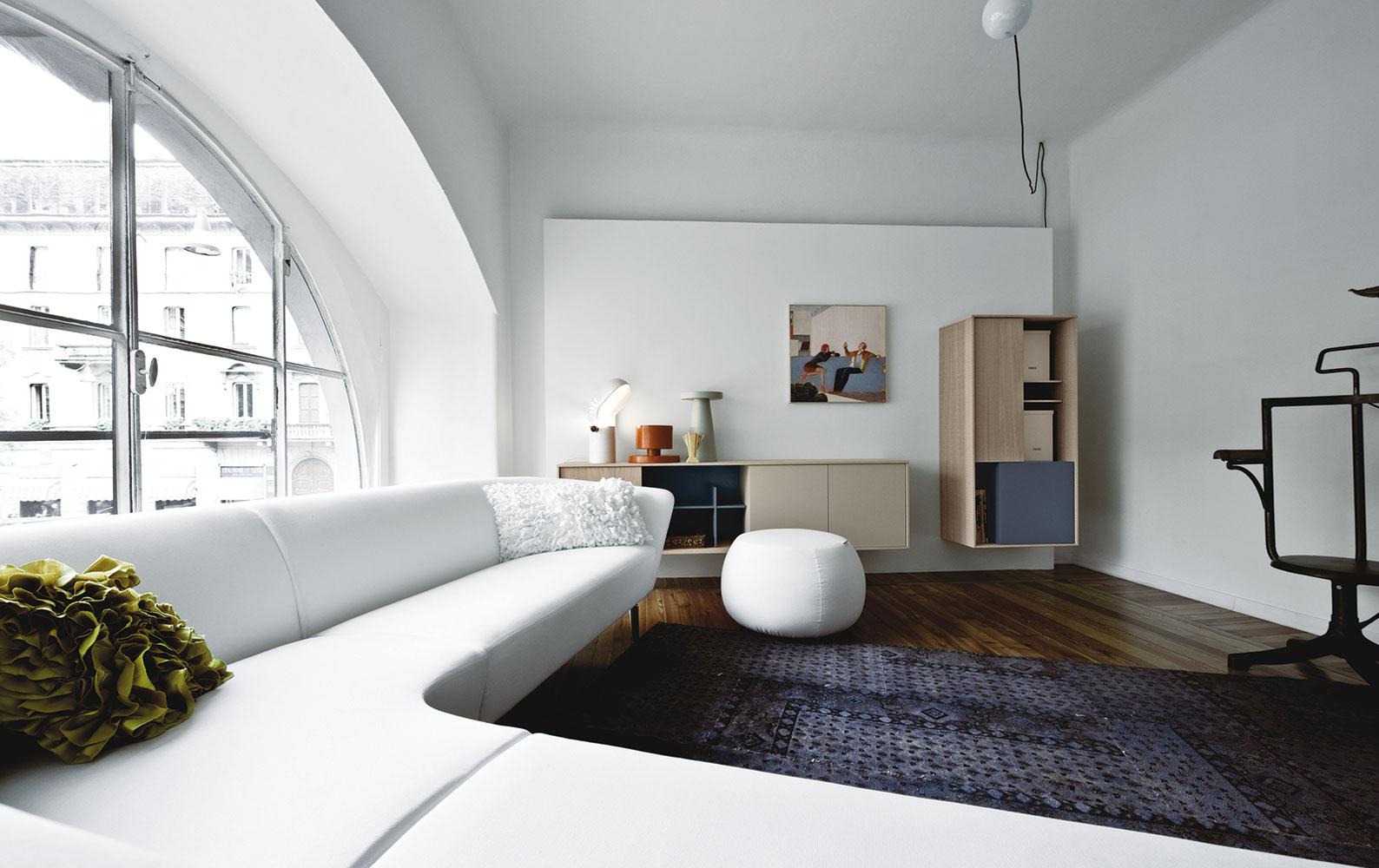 Living et salle de sejour sur mesure a Lyon avec Excoffier